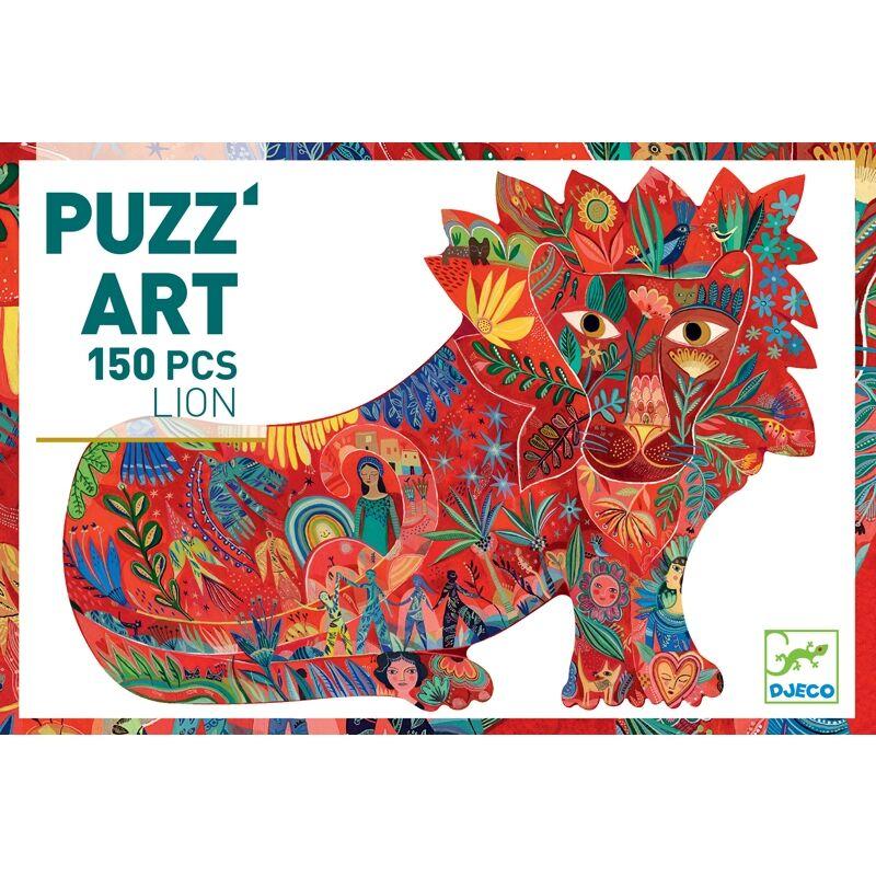 Művész puzzle - Oroszlán - Djeco puzzle 150 darabos 6 éves kortól