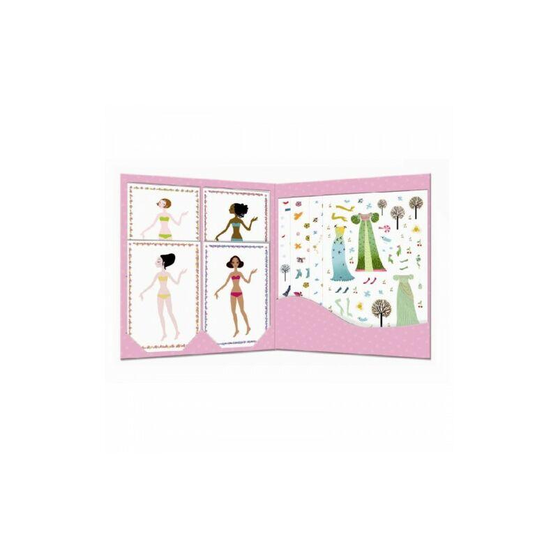 Évszakok ruhái - Baba öltöztető - Djeco kreatív készlet 4-8 éves korig