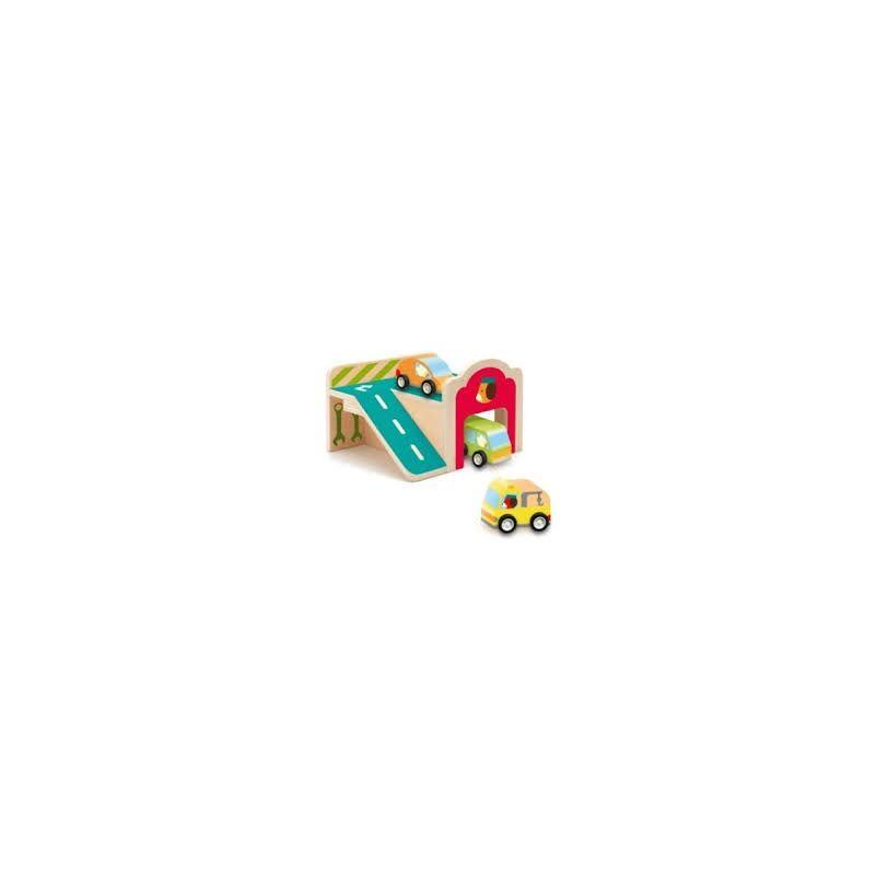 Mini-garázs - Djeco fa játék 18 hónapos kortól