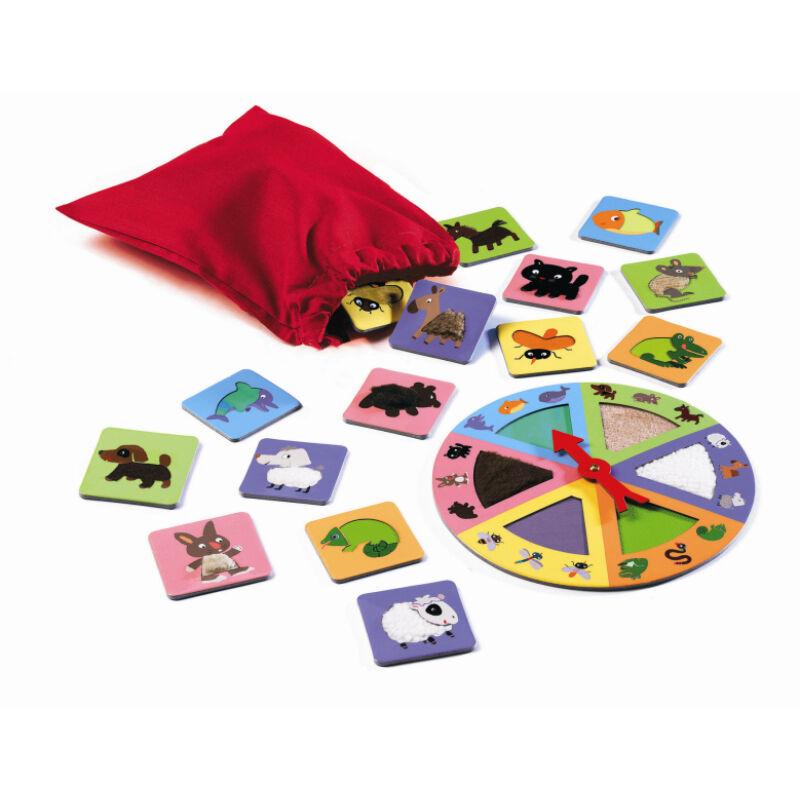Simogatós állatok - Tactilo Loto, Djeco társasjáték 3-6 éves korig