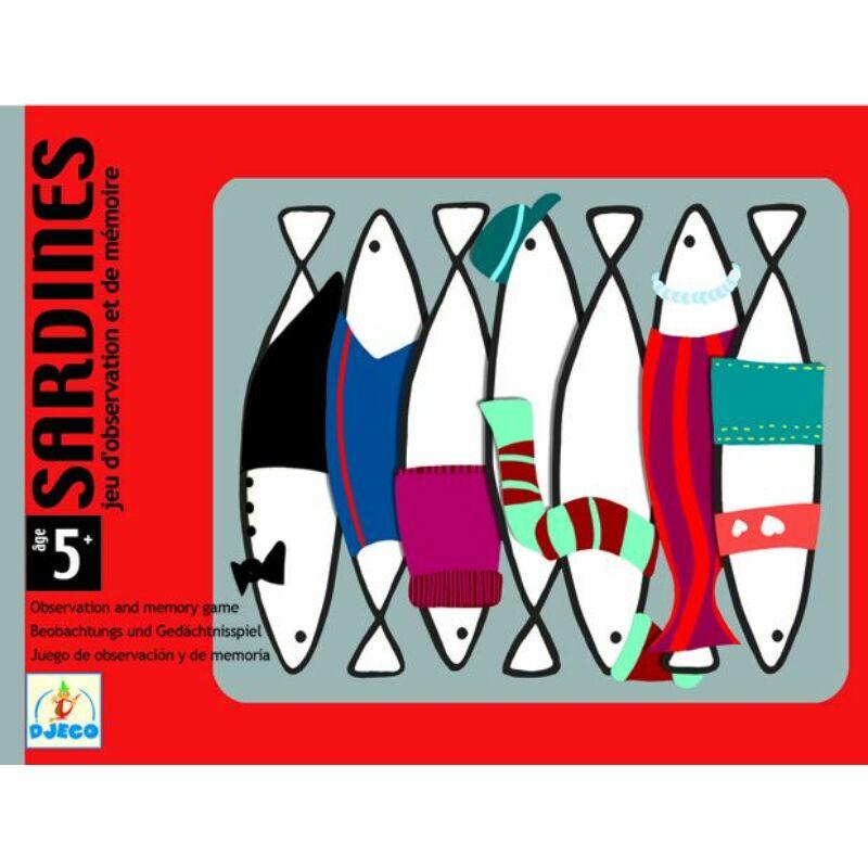 Sardines_memóriajáték - Djeco kártyajáték 5 éves kortól