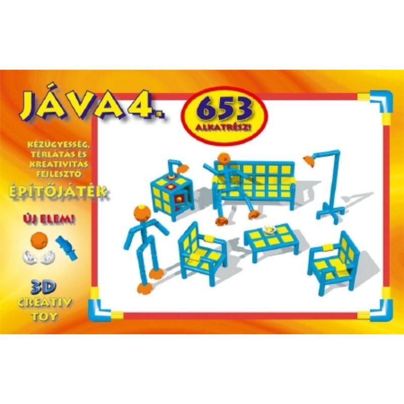 Jáva 4. Építőjáték (838 elem) gömb és csukló elemekkel 3- 12 éves korig
