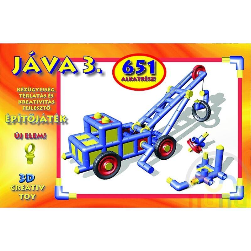 Jáva 3. Építőjáték (651 elem) klasszikus, 8-12 éves korig