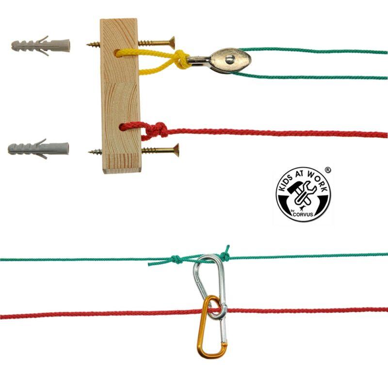Mini kötélpálya - Kids at work kreatív készlet 8 éves kortól